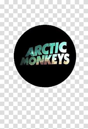 Arctic Monkeys Logo, green and brown Arctic Monkeys text.