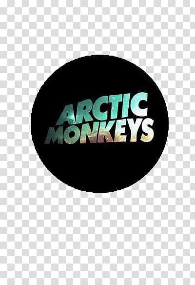 Arctic Monkeys Logo, green and brown Arctic Monkeys text transparent.
