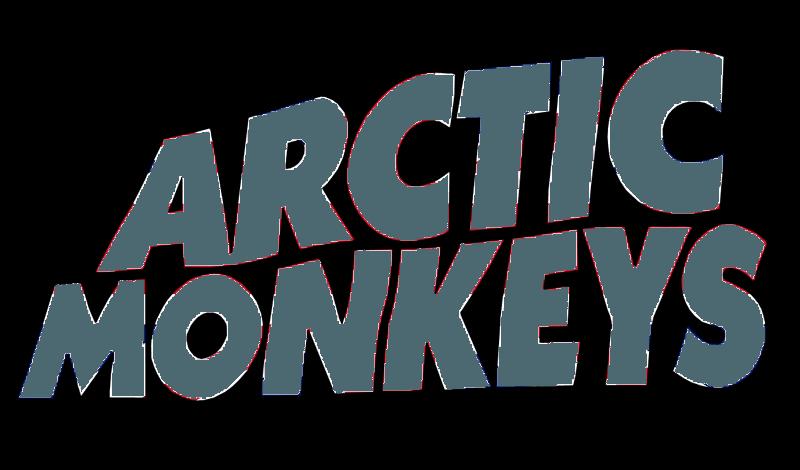 Arctic Monkeys Black and White Logo.