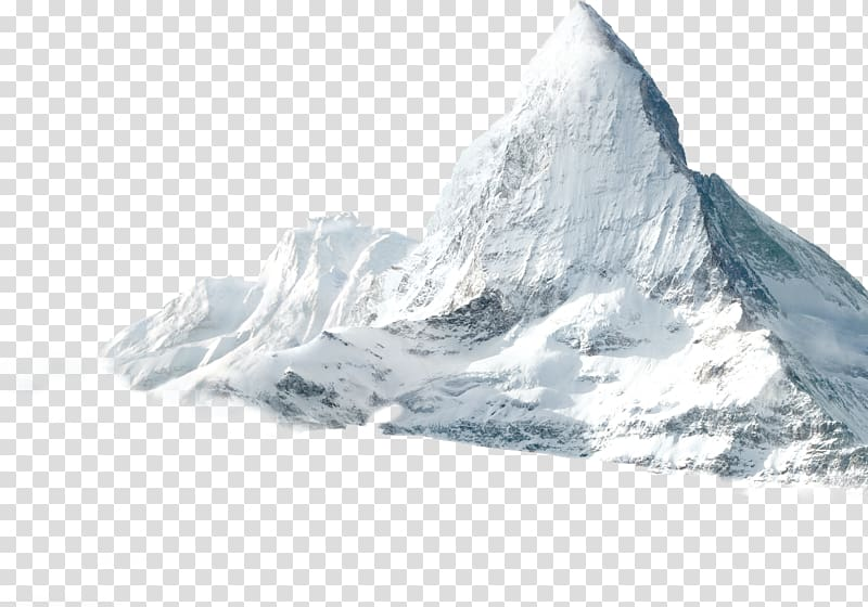 Mountain covered with snow illustration, K2 High.