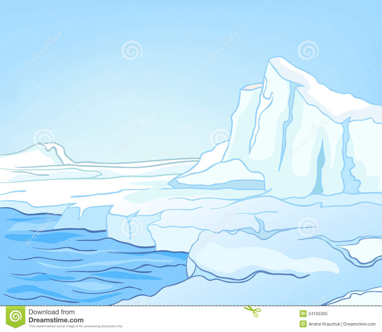Arctic ocean clipart.