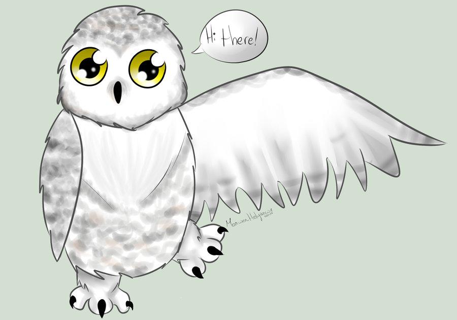 Baby snowy owl clipart.
