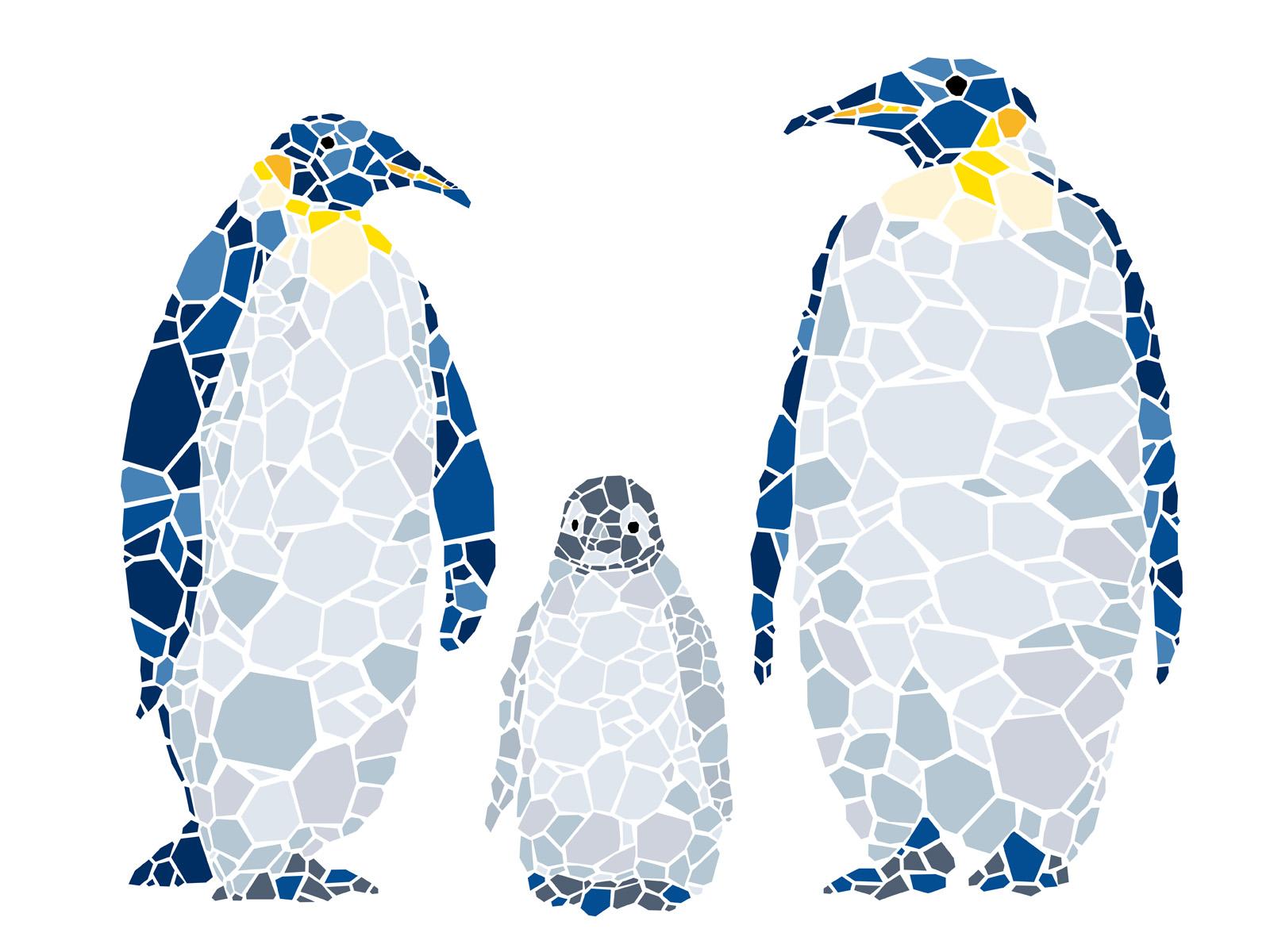 Penguin Family Free Vector Art.