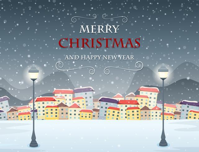 Merry Christmas themed winter scene.