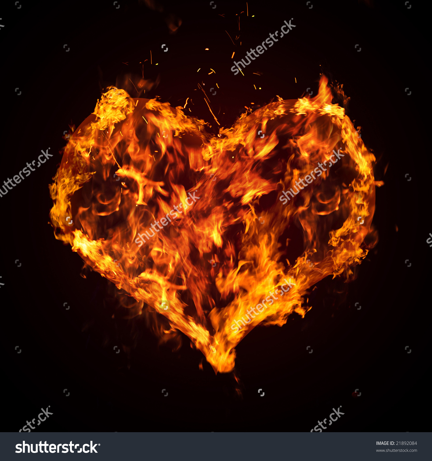 Ardent Heart Stock Illustration 21892084.