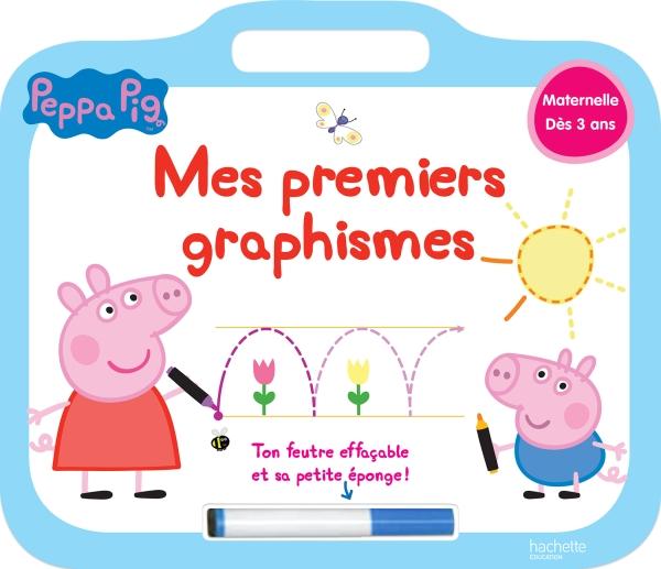 Peppa Pig ardoise Mes premiers graphismes.