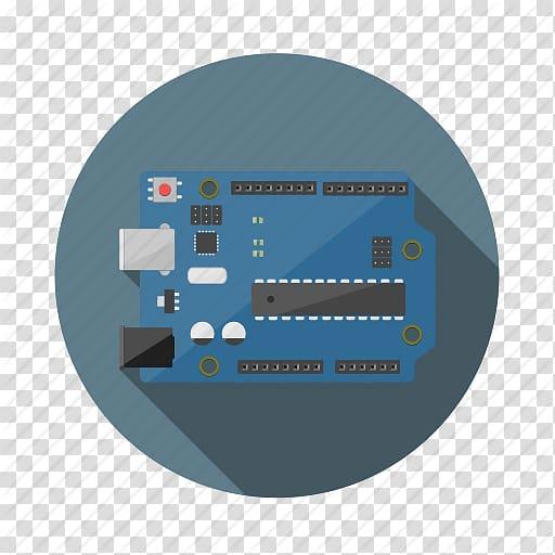 Square blue and black frame, Arduino Electronics.
