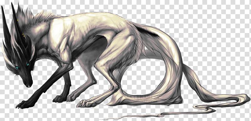 Arduous Fire, wolf illustration transparent background PNG.