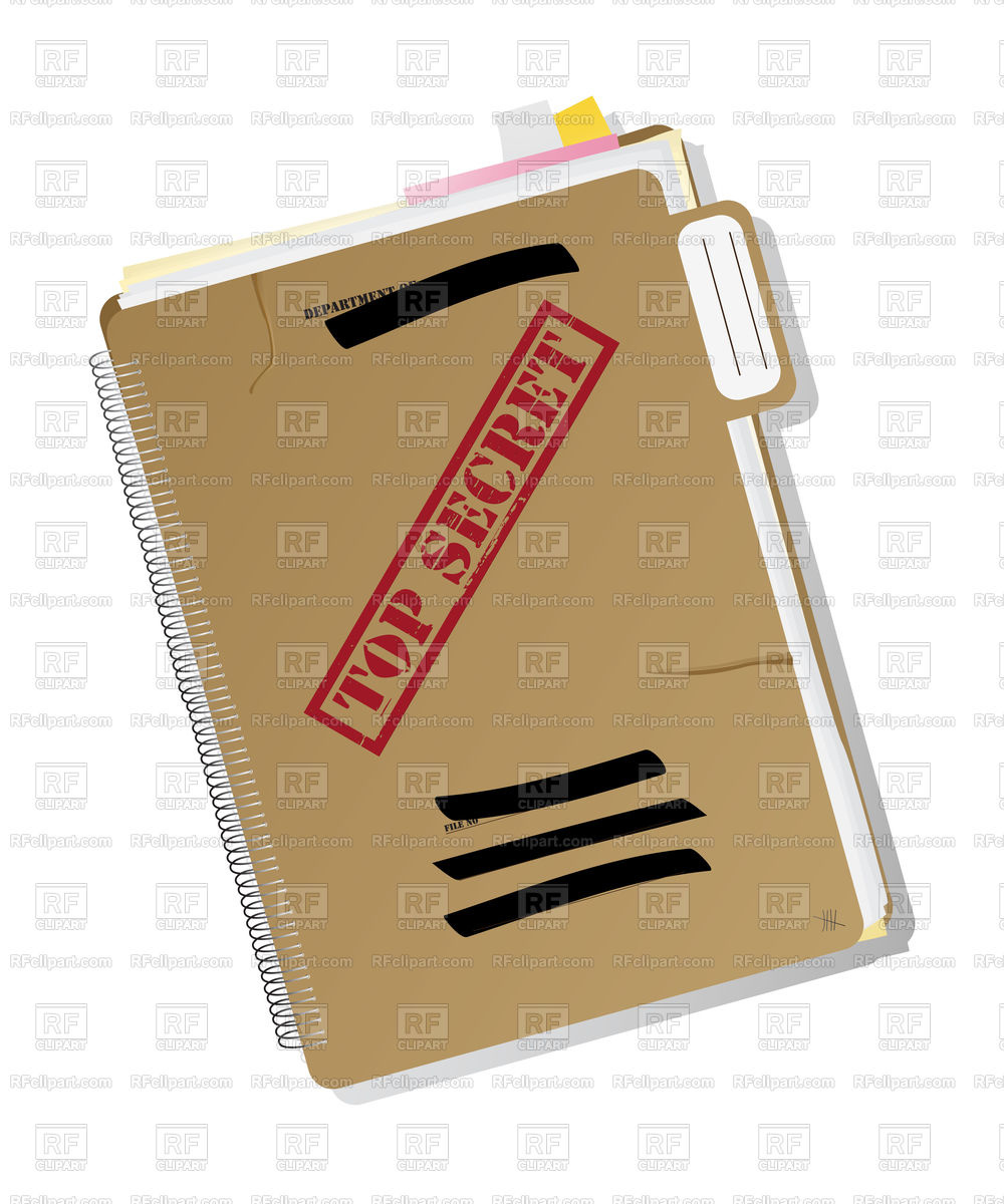 Top secret folder with files Stock Vector Image.