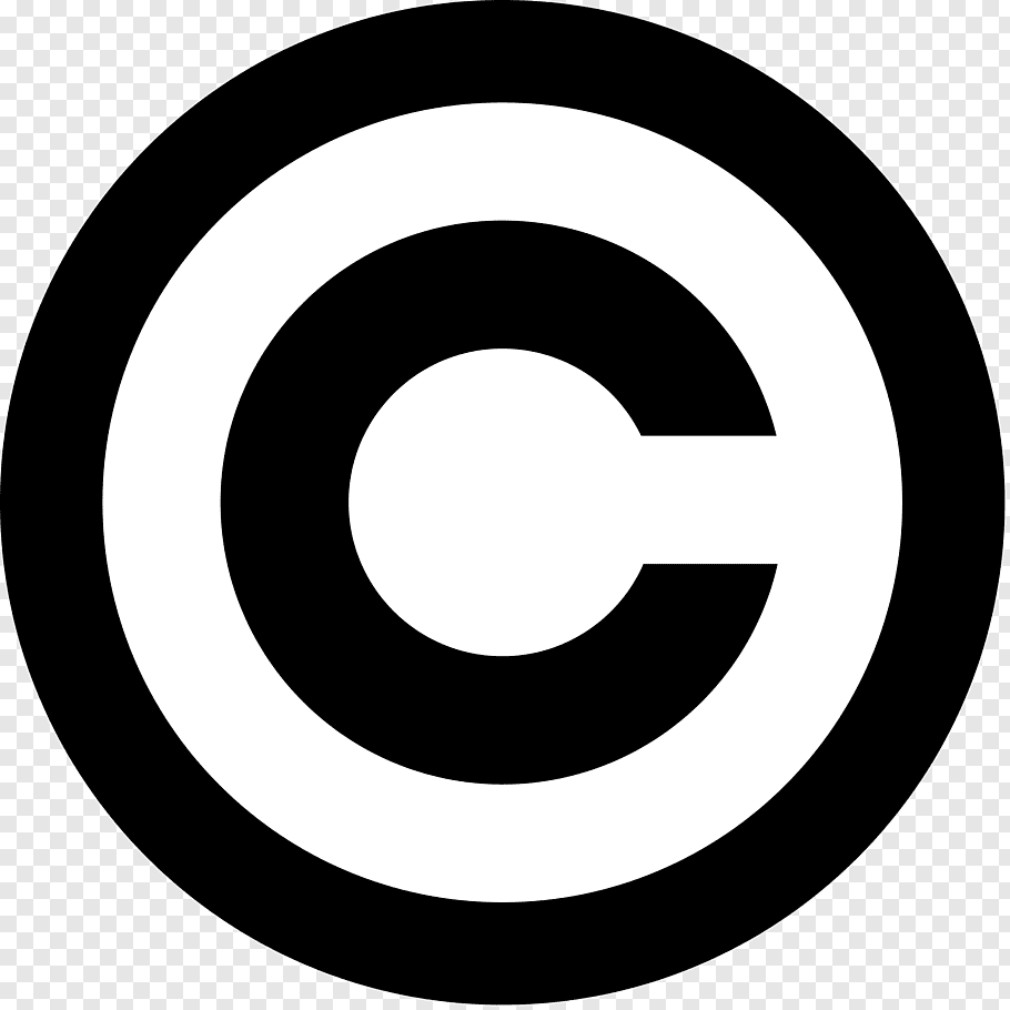 Black letter C logo illustration, Copyright symbol.
