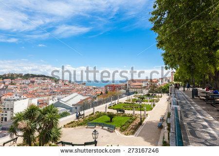Lisbon Rooftop Sao Pedro De Alcantara Stock Photo 273167258.