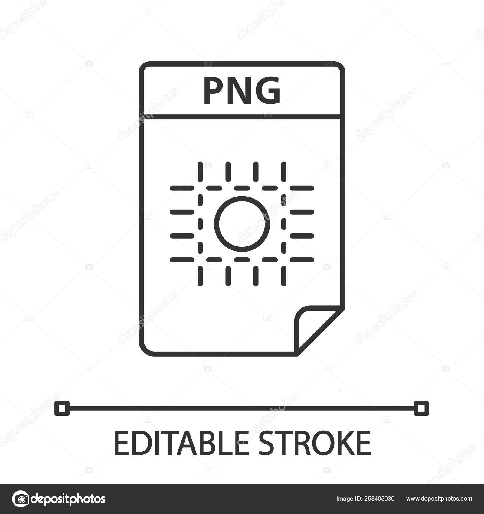 Png File Linear Icon Image File Format Raster Graphic Document.