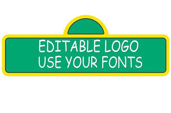 Editable Sesame street logo PNG file clear background transparent digital  file instant download..