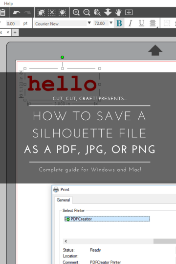 How to Save a Silhouette File as a JPEG, PDF, or PNG.