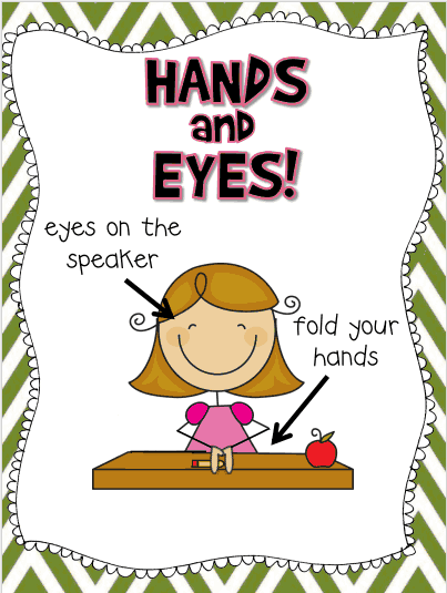 Teacher Will Run for Books: WBT Hands & Eyes.