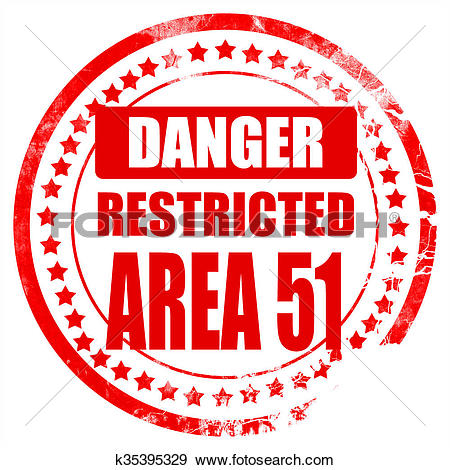 Stock Illustration of area 51 sign k35395329.