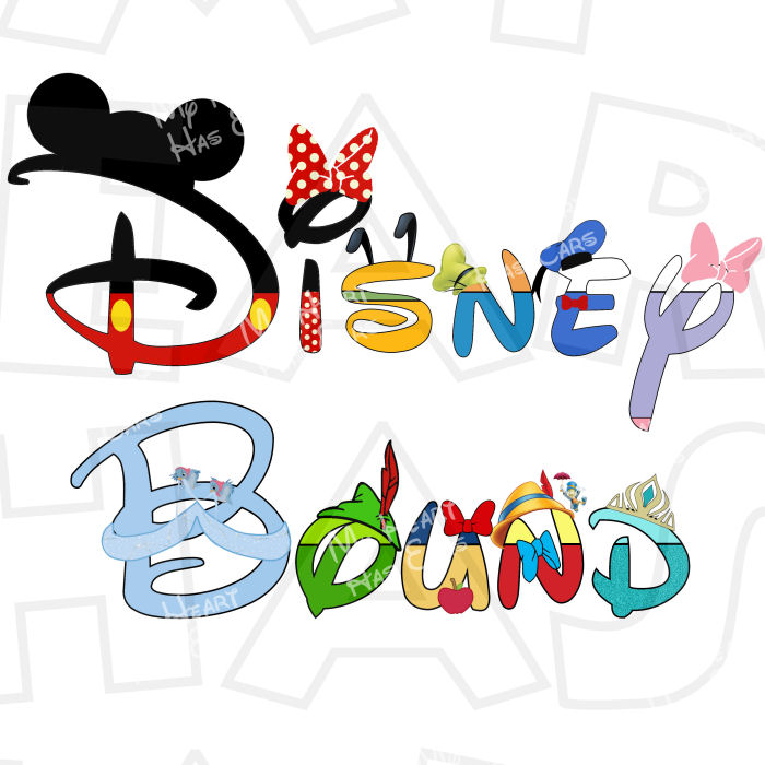 Disney Bound in Disney character text INSTANT DOWNLOAD digital.
