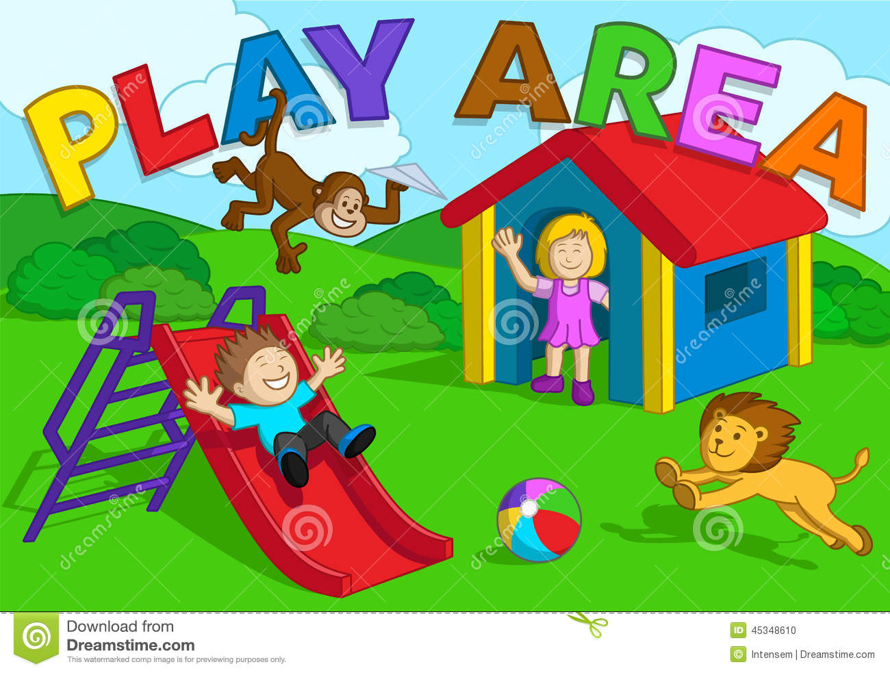 Play area clip art.