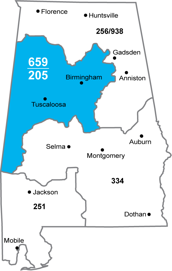 Overlay Approved for Alabama 205 Area Code.