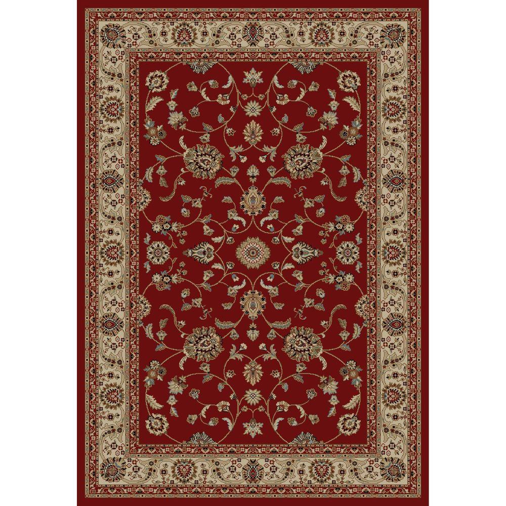 Concord Global Trading Jewel Marash Red 3 ft. x 4 ft. Area Rug.