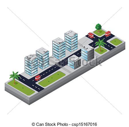 Vector Clip Art of Urban area.