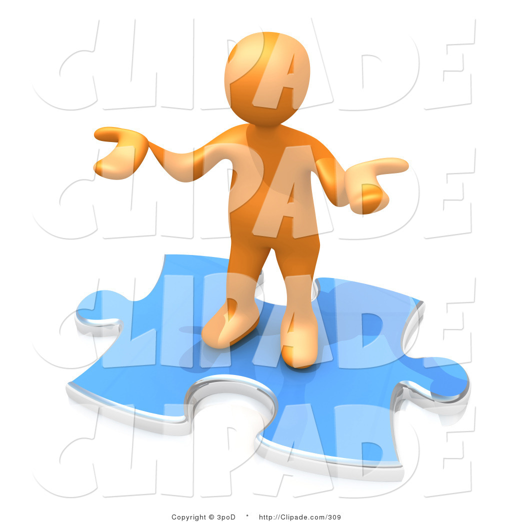 Clip Art of a Confused Orange Man Holding Their Hands out Because.