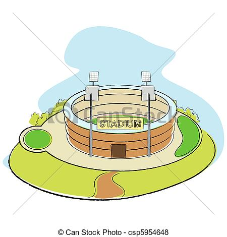 Sports arena clipart.