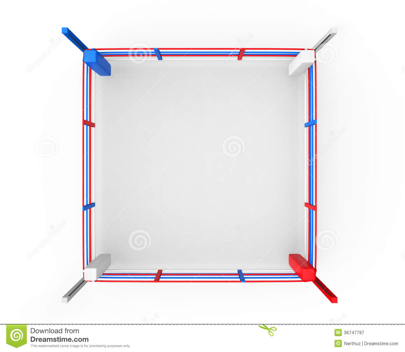 Boxing Ring Background Clipart.