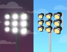 Stadium Lights Free Vector Art.