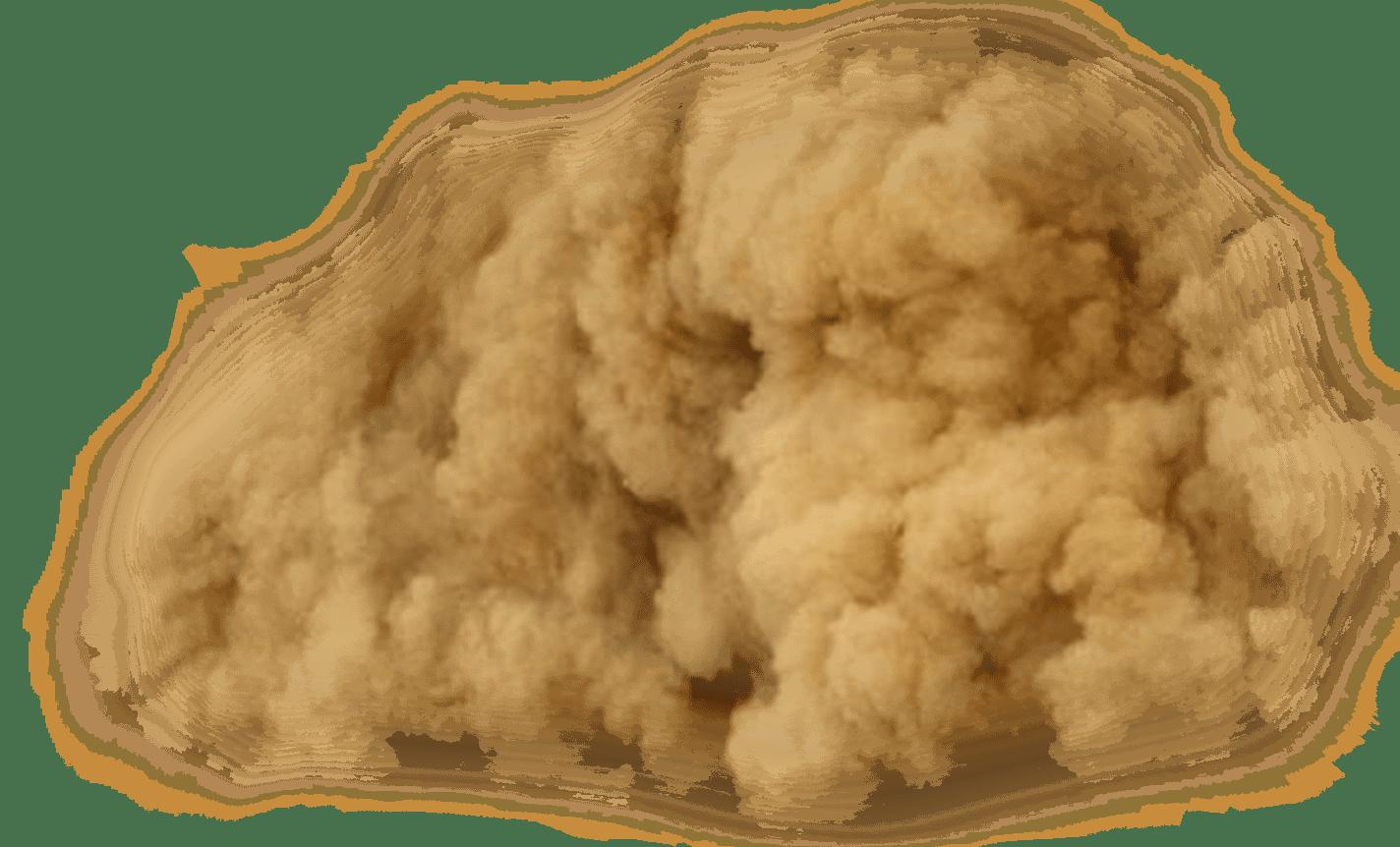 Tormenta del Desierto Arena PNG transparente.