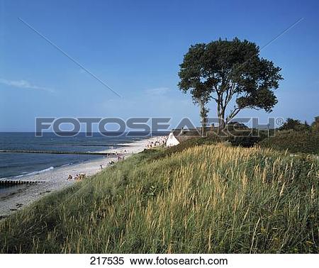 Stock Image of Tourist resort at seaside, Ahrenshoop, Mecklenburg.