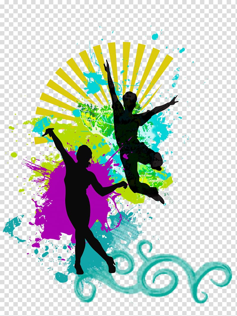 Dance Silhouette Music, aerobics transparent background PNG.