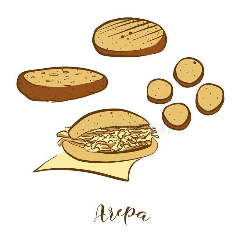 Arepa Stock Illustrations.