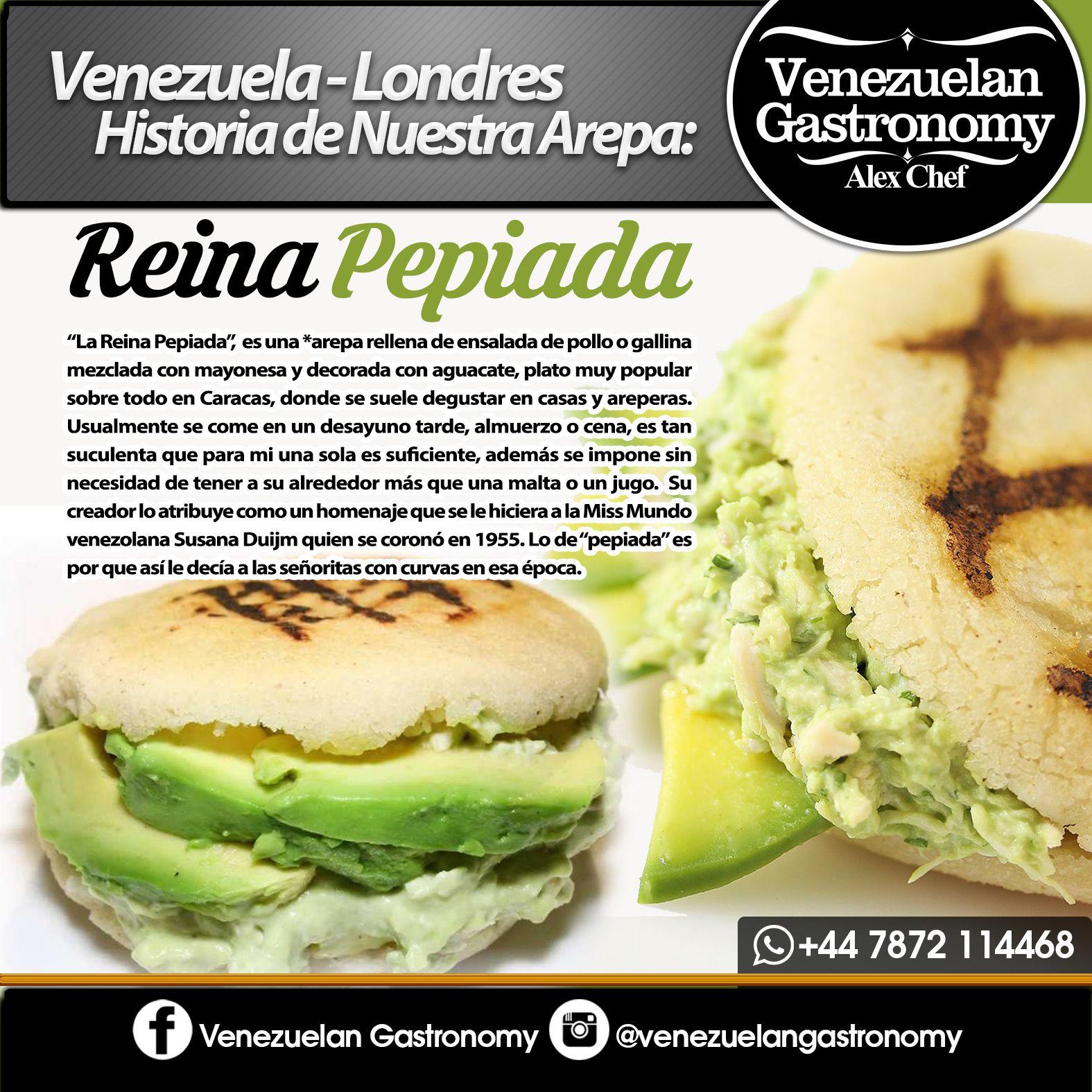 DISEÑO PARA REDES SOCIALES DE VENEZUELAN GASTRONOMY CON SUS.