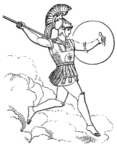 Ares With Spear Clip Art Download.