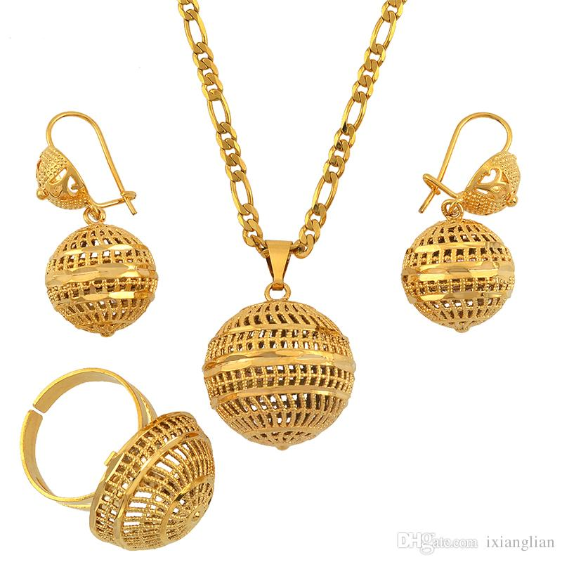 Aarb Beads Jewelry sets African Wedding Necklace Aretes Anillo para mujer  Ball PNG United Arab Emirates Gifts # 126306.