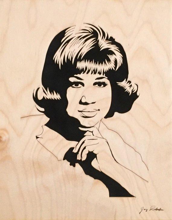 Aretha Franklin Portrait, \