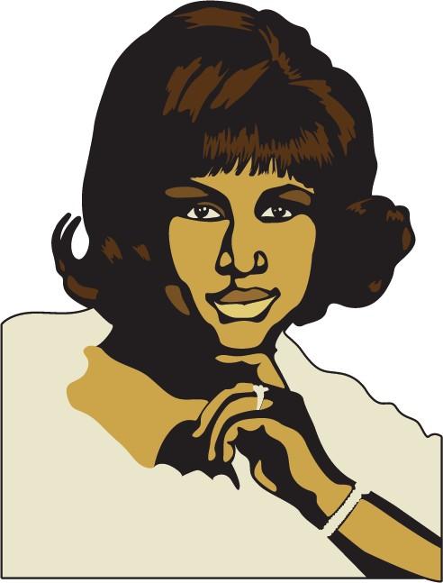 Etiqueta de la pared Aretha Franklin.