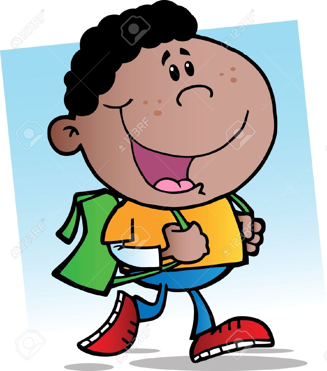 African american back to school clipart.