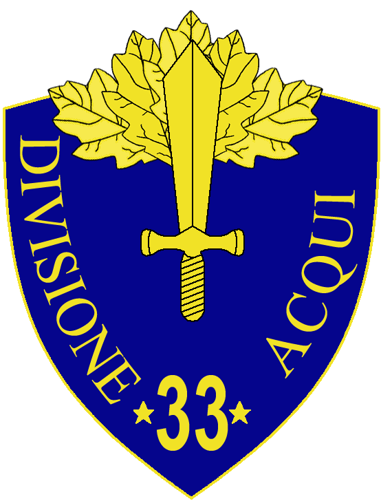 33rd Infantry Division Acqui.