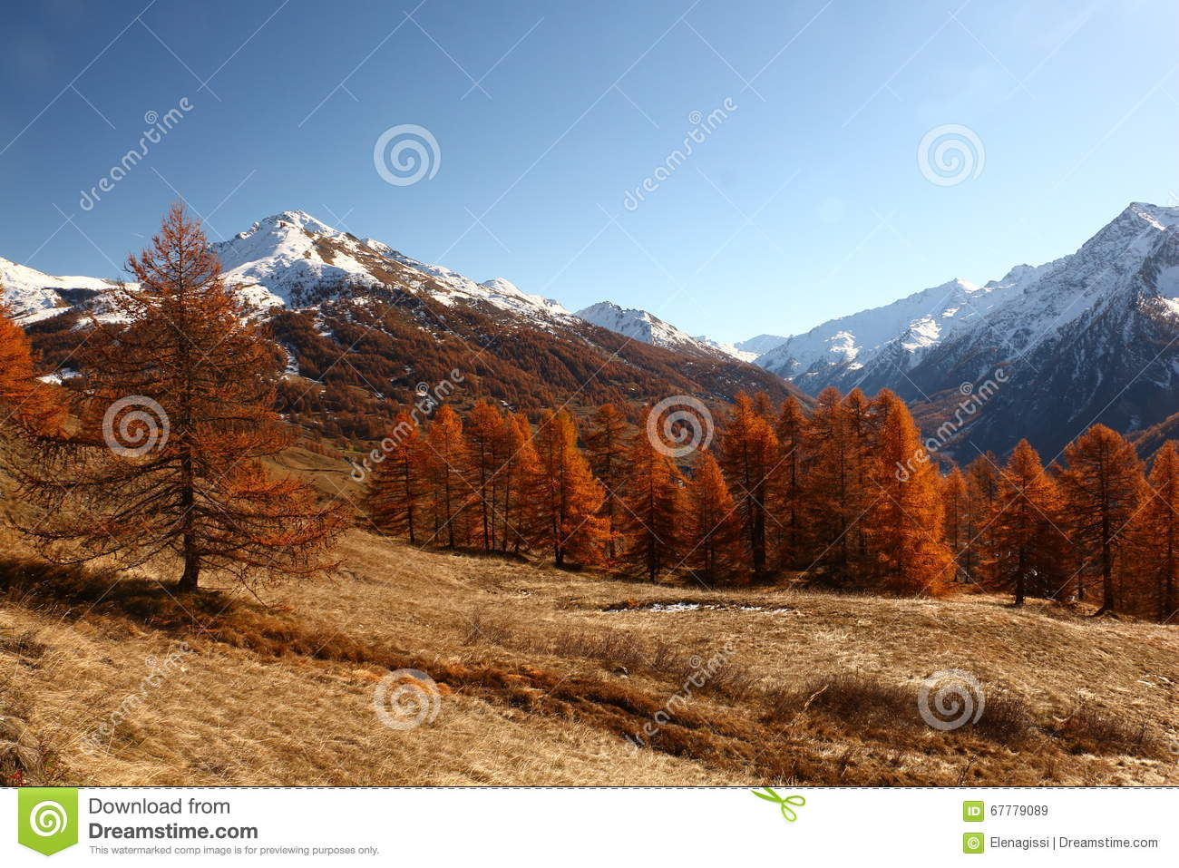 Mountains In Autumn Alps Piemonte Val Di Susa Valle Argentera.