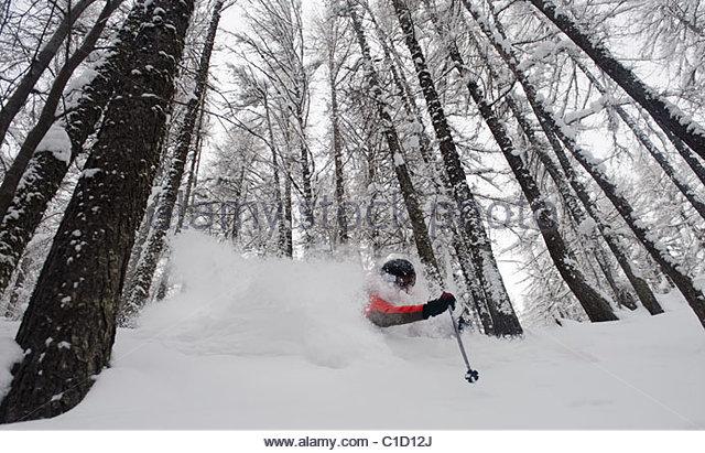 Close Up Man Skiing Downhill Stock Photos & Close Up Man Skiing.
