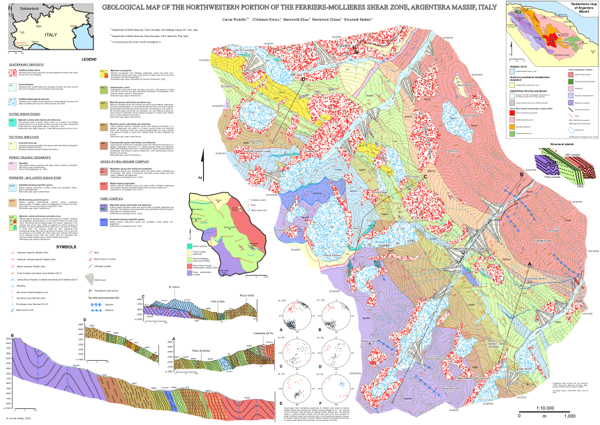 Geology of the northwestern portion of the Ferriere.