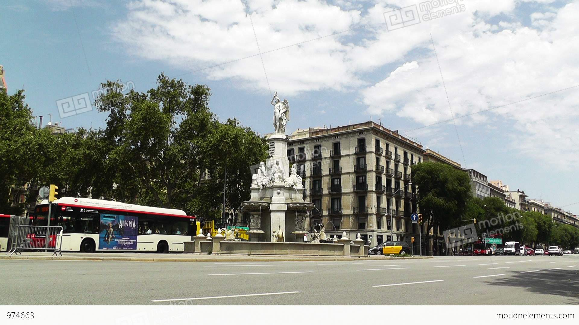 Barcelona Avinguda Del Marques De L Argentera 01 Stock Video.