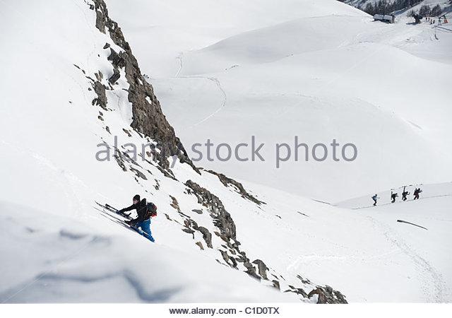 Man Climbing Mountain Bags Stock Photos & Man Climbing Mountain.