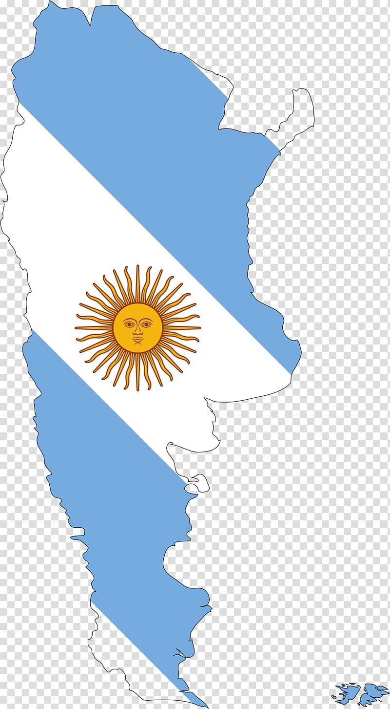 Flag of Argentina Map , Argentina transparent background PNG.