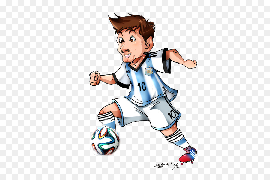 Messi Cartoon clipart.