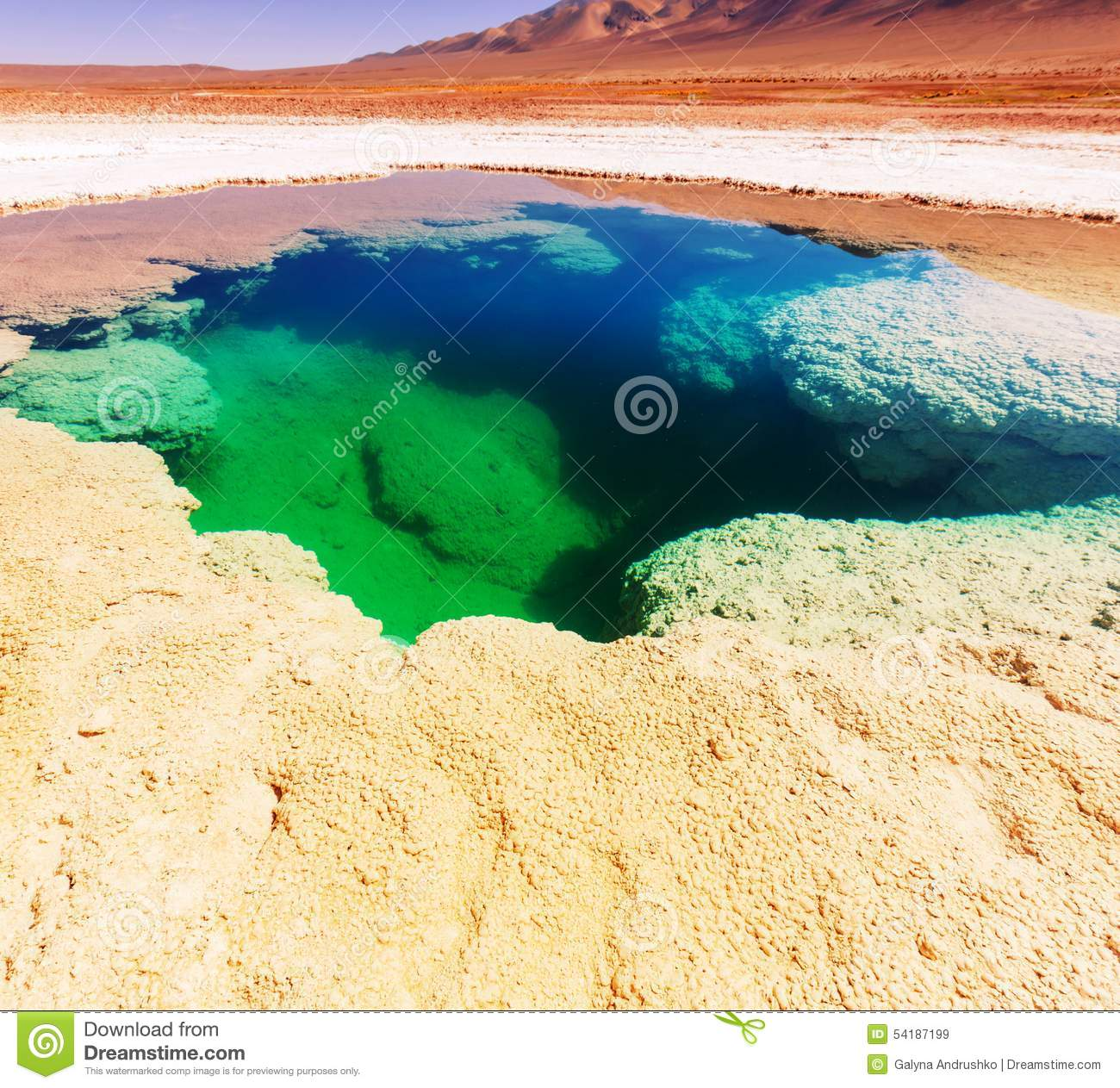 Ojo Del Mar In Argentina Andes Is A Salt Desert In The Jujuy.