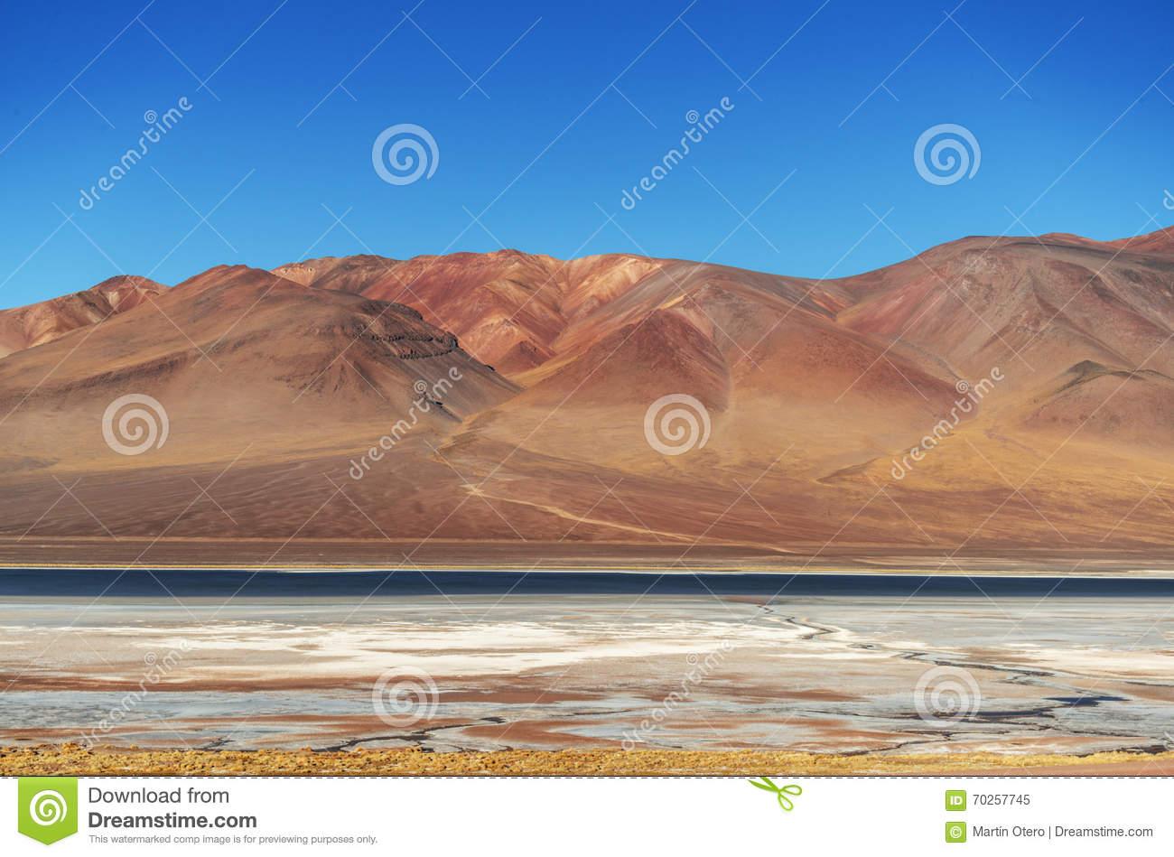 Paso De Jama, Argentina Chile, Desierto De Atacama Stock Photo.