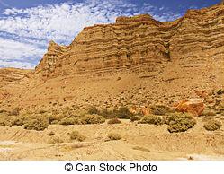 Stock Image of Desert, mountain and blue sky in Ischigualasto.